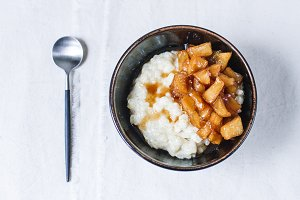 Rice Pudding with Caramelised Apples