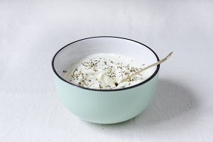 Whipped Feta Dip with Herbs