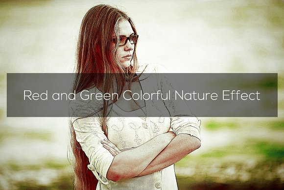 Red And Green Colorful Nature Effect
