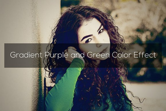 Gradient Purple And Green Effect