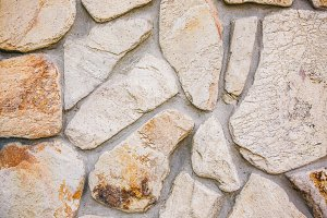 Decorative natural stones wall