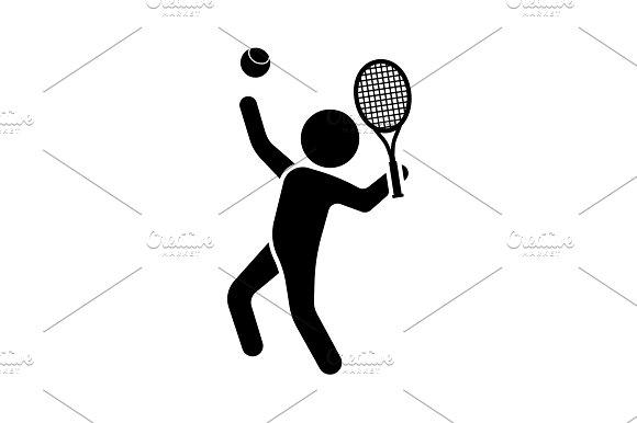 Vector Illustration Tennis Player