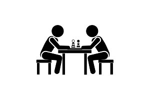 Vector illustration. Chess player