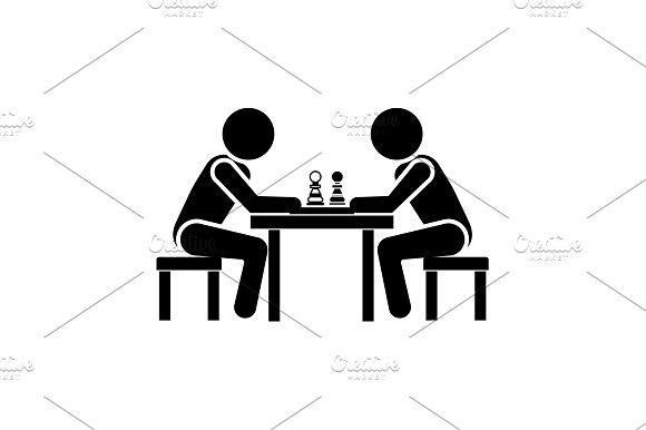 Vector Illustration Chess Player