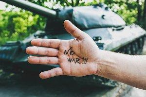 No war sign concept