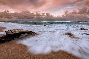 Sunset at a Hawaiian Beach
