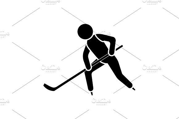 Vector Illustration Hockey Player