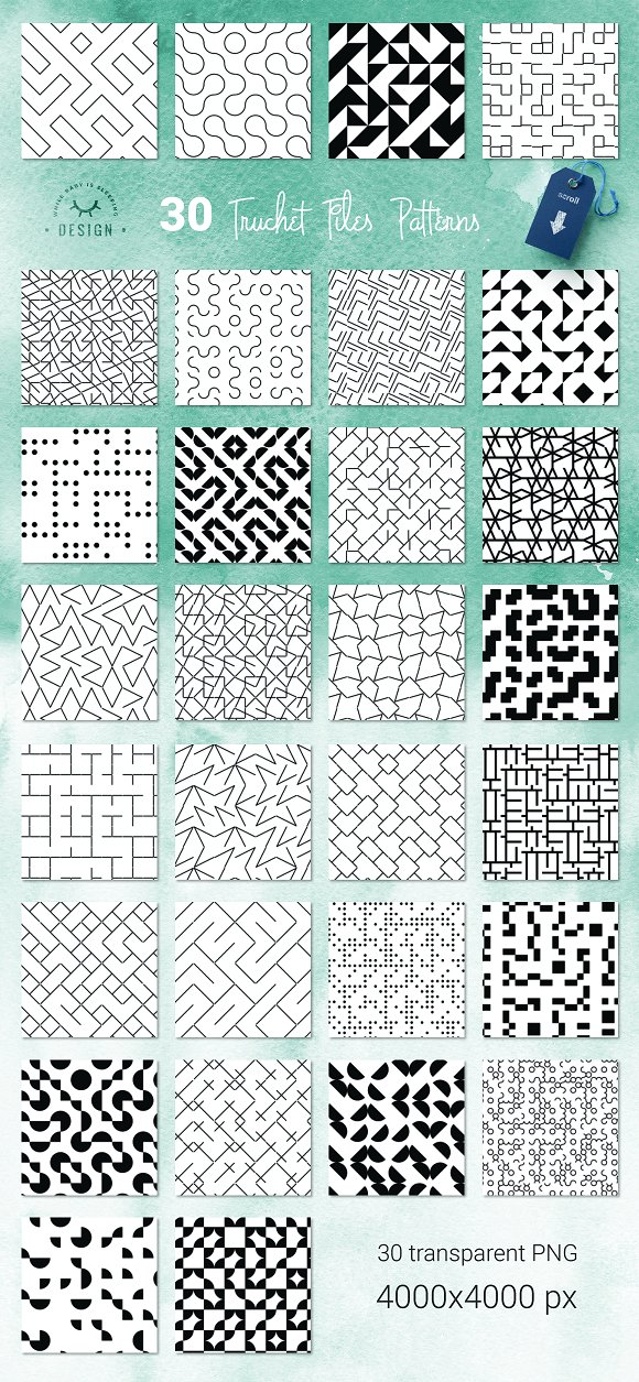 Truchet Tiles Geometric Patterns