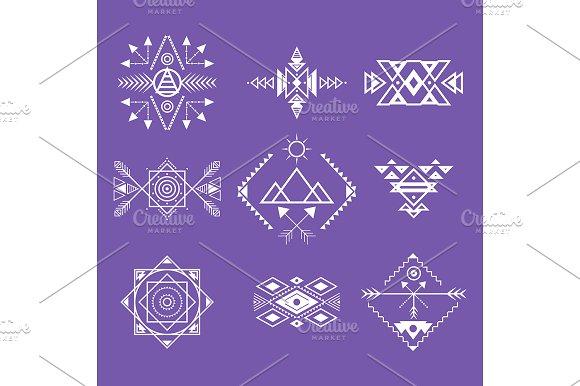 Aztec Style Ornament Line Set