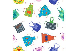 Cooking Aprons Pattern Background