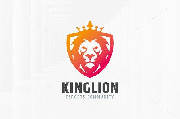 King Lion Logo Template