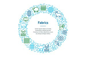 of Fabric Feature Banner Card Set