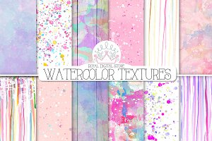WATERCOLOR TEXTURES digital paper