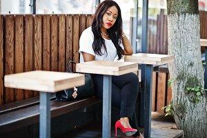 Stylish african business woman