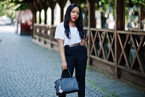 Stylish african business woman