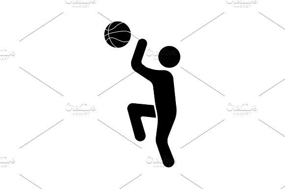 Illustration Basketball Player Icon