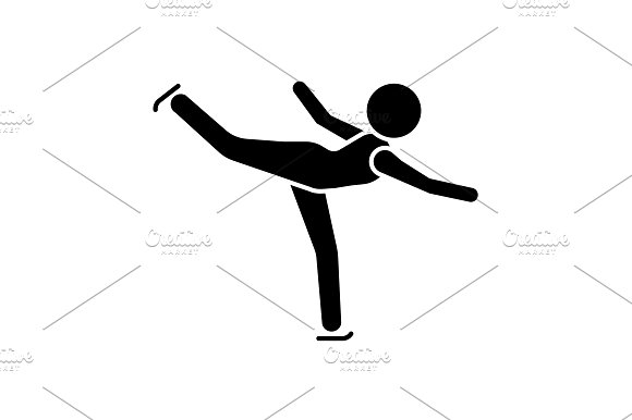 Figure Skating Icon Ice Skater
