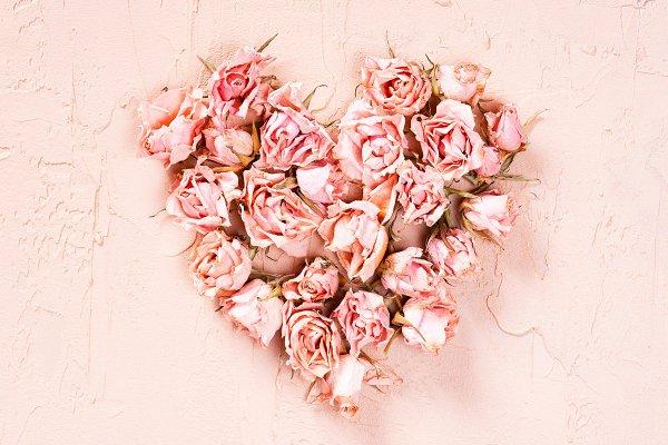 Holiday Stock Photos: AlinaKho - Heart of dry pink roses