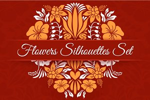 Flowers Silhouettes Set