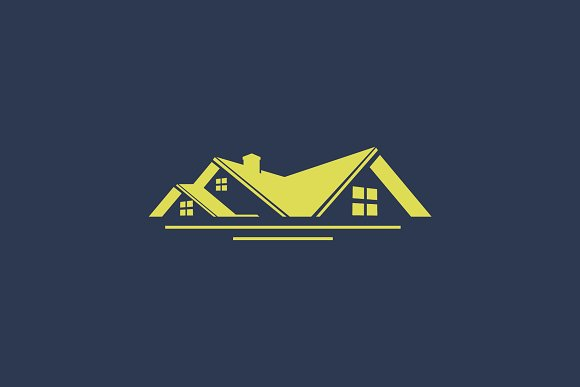 Roof House Simple Logo