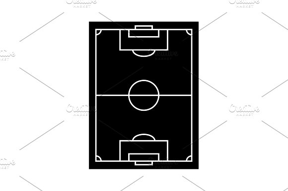 Scheme Of The Football Field Icon