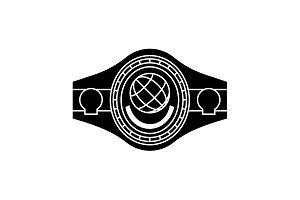 Boxing Belt. Belt Champion.  Black