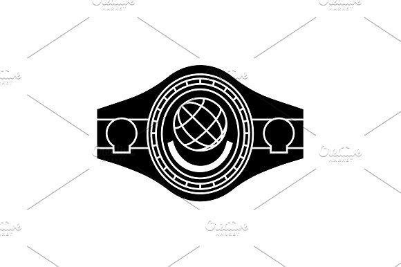 Boxing Belt Belt Champion Black