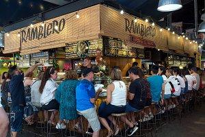 Ramblero bar in La Boqueria market