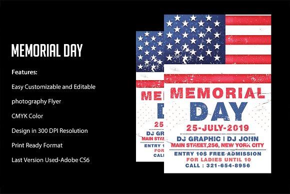 Memorial Day Flyer