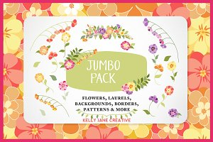 Bright Flower Jumbo Pack