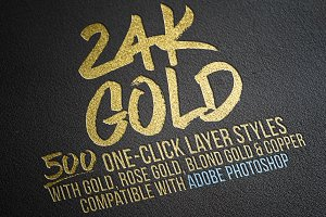 Gold Foil Layer Styles Photoshop