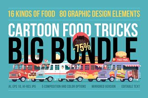 Cartoon Food Trucks Bundle