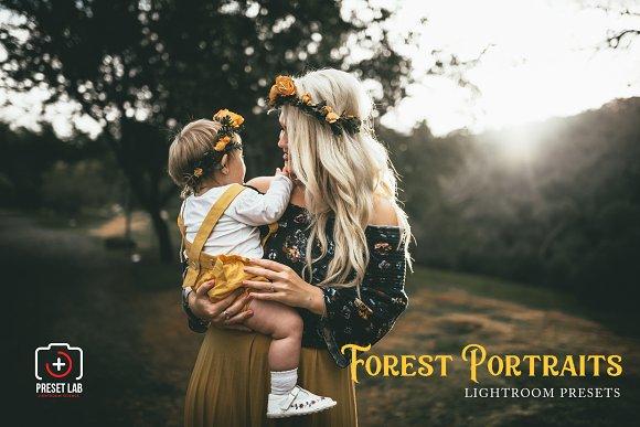 Forest Portrait For Lightroom
