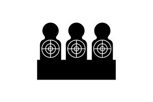 Targets for shooting. Target icon