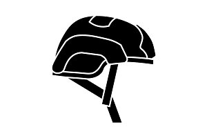 Helmet for airsoft. Helmet icon