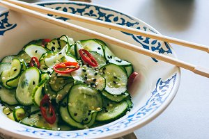 Thai cucumber salad with sesame