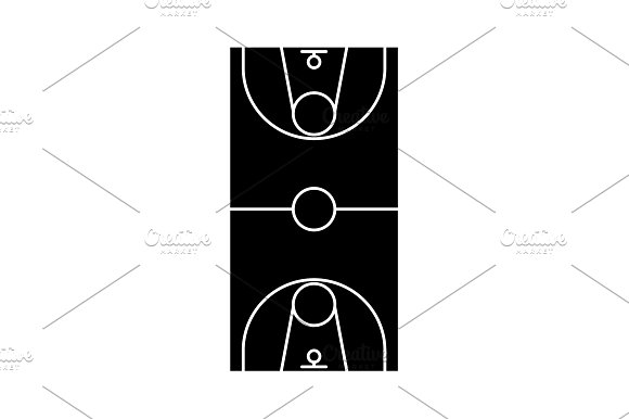 Scheme Of The Basketball Field Icon