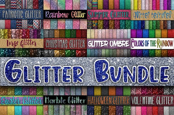 Glitter Digital Textures Bundle