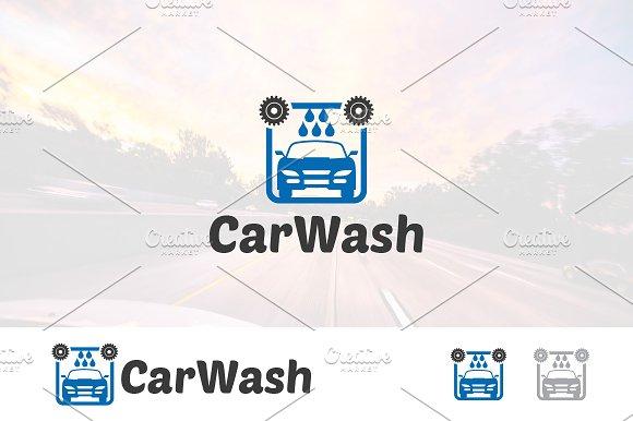 Auto Car Wash Clean Logo