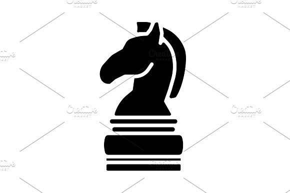 Chess Figure Of A Horse Chess Icon