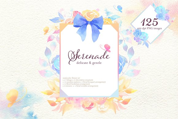 Serenade Watercolor Flower Set