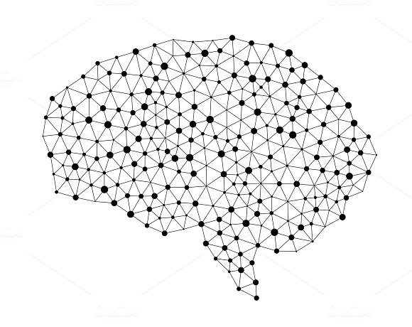 Human Brain Isolated On White Background In The Form Of Artificial Intelligence For Technology Concept 3D Illustration