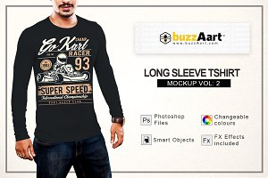 Long Sleeve Tshirt Mockup Vol-2