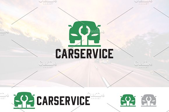 Car Repair Service Garage Logo