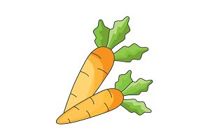Color vector illustration. Carrot
