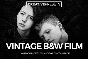 Vintage B&W Film Lightroom Presets