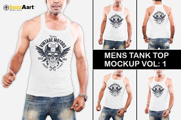 Mens Tank Top Mockup Vol-1