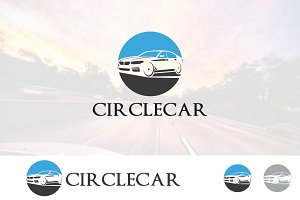 Circle Car Negative Space Logo