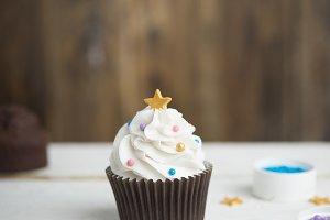 Delicious cupcake christmas