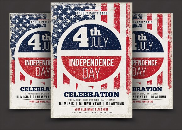 4th of july flyer flyer templates creative market
